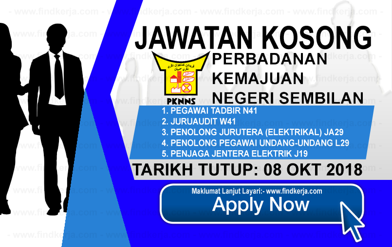 Jawatan Kerja Kosong PKNNS - Perbadanan Kemajuan Negeri, Negeri Sembilan logo www.ohjob.info www.findkerja.com oktober 2018