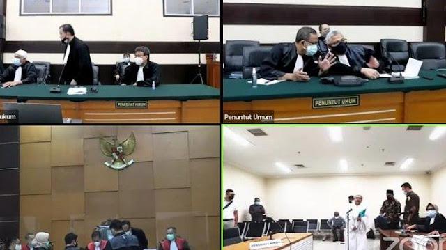 Detik-detik Munarman Bentak Jaksa di Sidang HRS: Diam! Ini Giliran Saya!