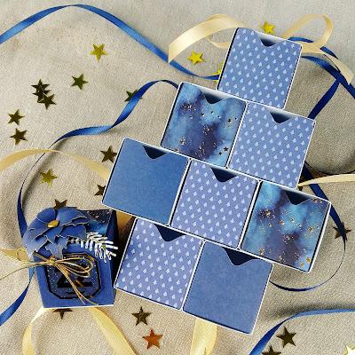 Szybkie i łatwe pudełeczko na mały upominek lub kalendarz adwentowy