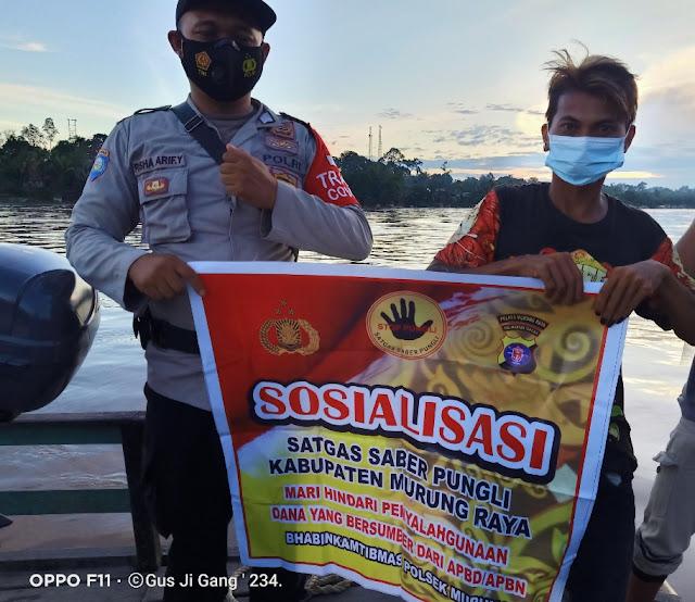 Polsek Murung Gelar Sosialisasi Saber Pungli Di Desa Muara Bumban
