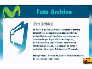La historia es vitál, por eso, recuperar el archivo fotográfico e iconográfico aplicando sistemas metodólogicos con Estándares Internacionales y corrdinados por Especialistas en registro, Documentación y conservación, asegura una identificación técnica, recaudación de datos y contenidos útiles para Telefónica Venezolana