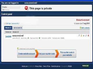Histats.com Counter Private