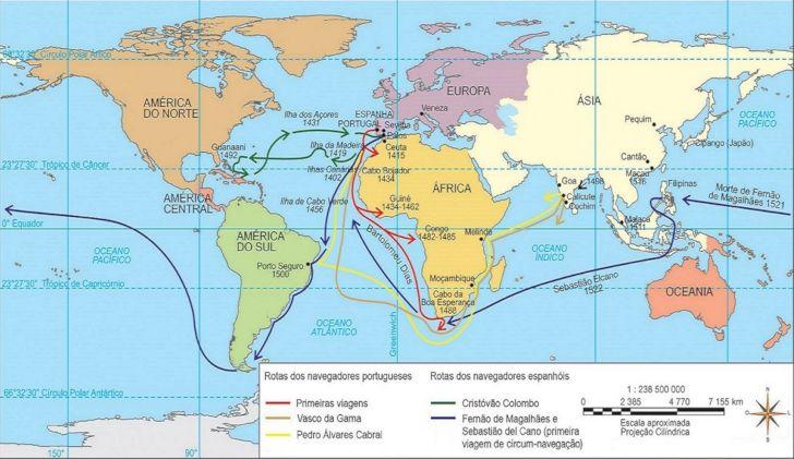 Rotas das viagens Portugal e Espanha