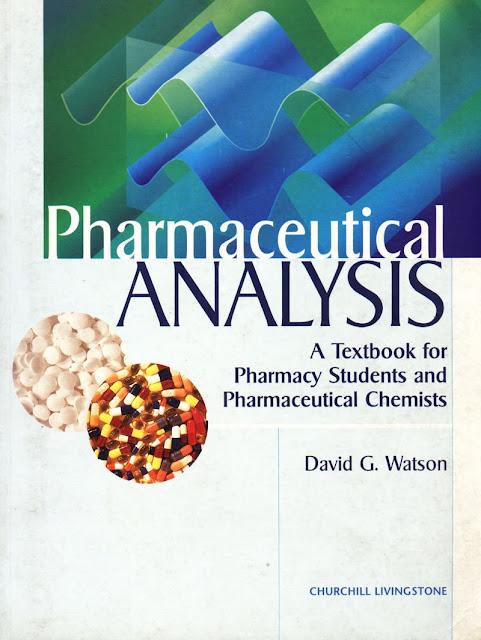 Pharmaceuticals Analysis David G. Watson