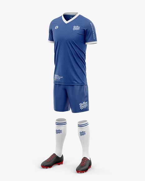 Men's Full Soccer Kit with V-Neck Jersey