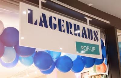 Bild på skyltfönster till en Lagerhouse pop up-butik