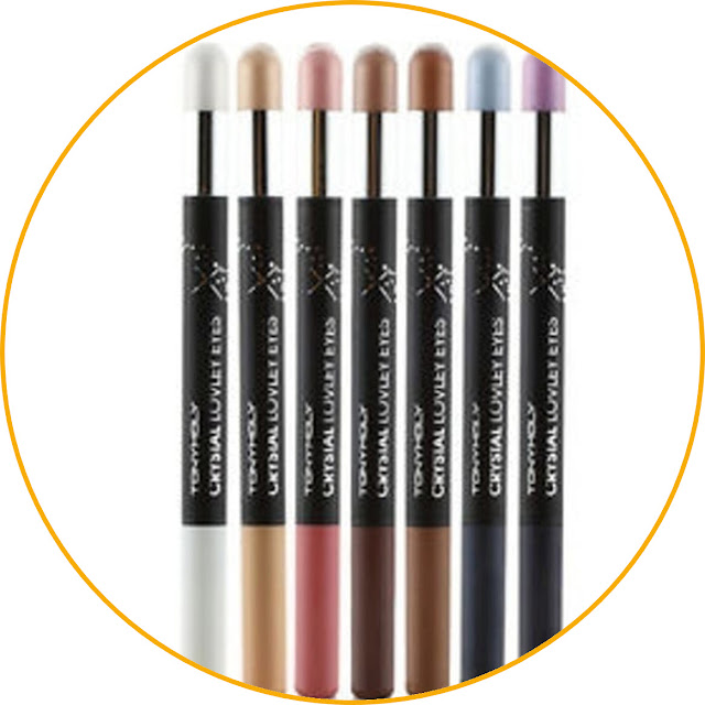 Tony Moly Crystal Lovely Eyes Eyeshadow and eyeliner in one product, more concise! This one product is perfect for those of you who don't want to bother carrying lots of makeup equipment. This product has a shape like a marker with two ends that serve different functions. One end serves as an eyeliner and the other serves as an eyeshadow. Plus, this eyeshadow stick applicator is made of very soft foam making it comfortable to use. Very practical, yes!