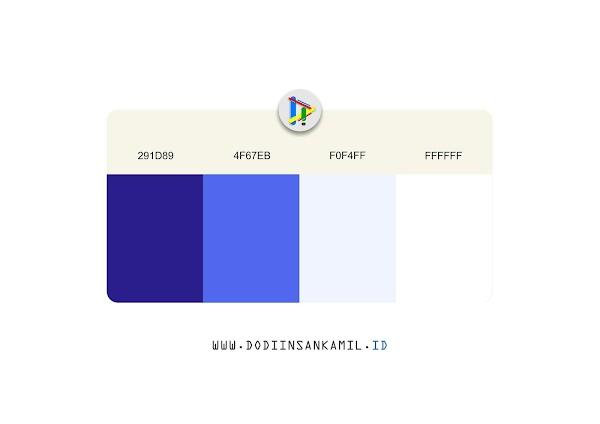 Gradasi Warna Biru, Biru Muda - Gradasi Warna untuk Desain