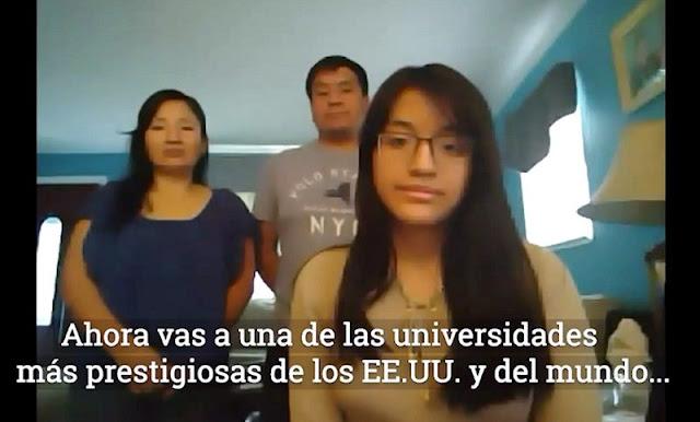 Aracely Moreno: peruana fue admitida en 13 de las más prestigiosas universidades de EEUU