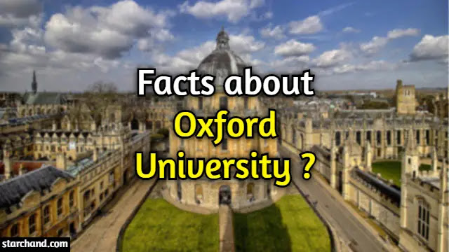 Facts About Oxford University