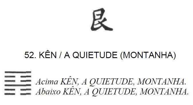 Imagem de 'Kên / A Quietude (Montanha)' - hexagrama número 52, de 64 que fazem parte do I Ching, o Livro das Mutações