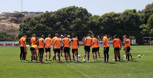 Jogadores do Inter treinam em Belo Horizonte (Ricardo Duarte / Inter)