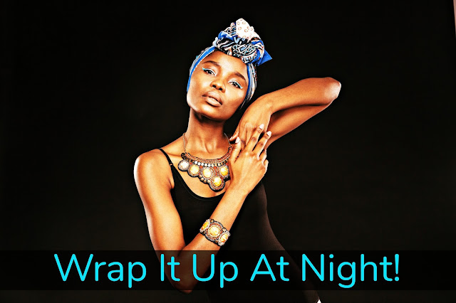 Click here to buy  ASOS 2 PACK PLAIN AND TILE PRINT HEADSCARF to protect your blowout at night