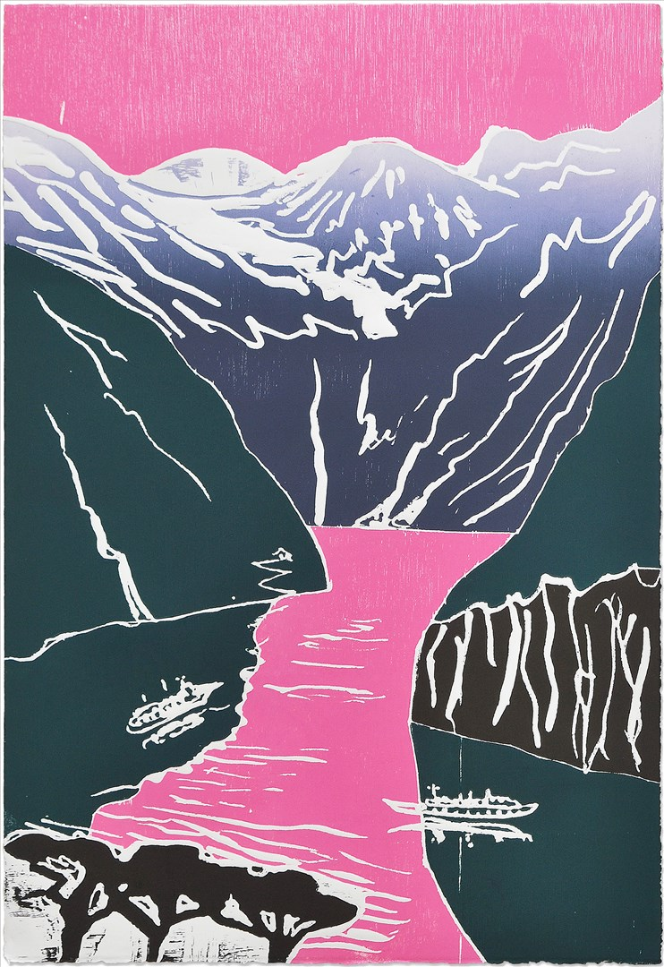 Sadie Tierney - Bleiker Fjord (woodcut print, edition of 20) - Royal Academy Summer Exhibition 2021 - London lifestyle & culture blog