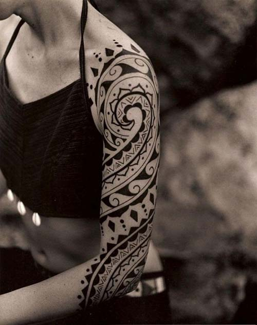 kadın maori tribal dövmeleri woman maori tribal tattoos 15