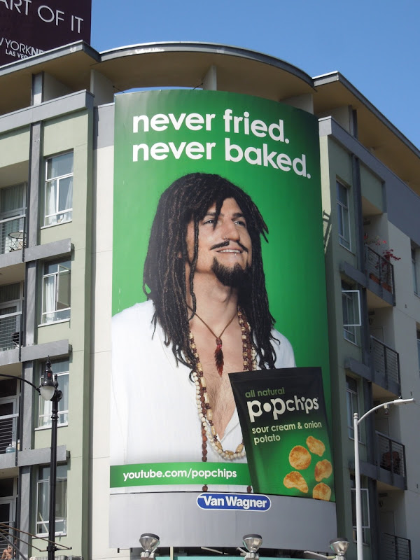 Ashton Kutcher Hippie Nigel Popchips billboard