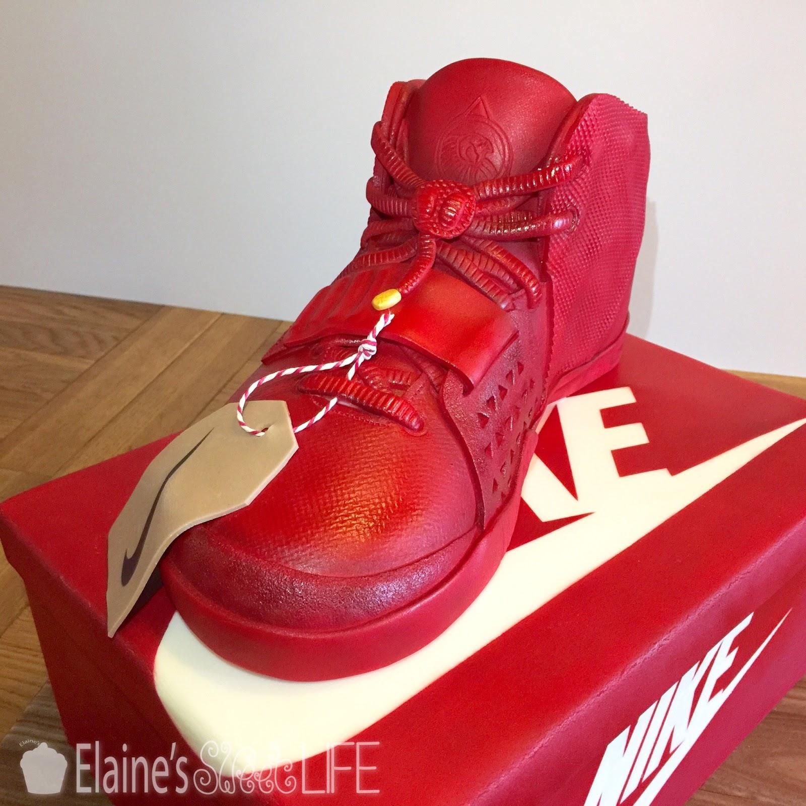 Elaine S Sweet Life Nike Hightop Cake