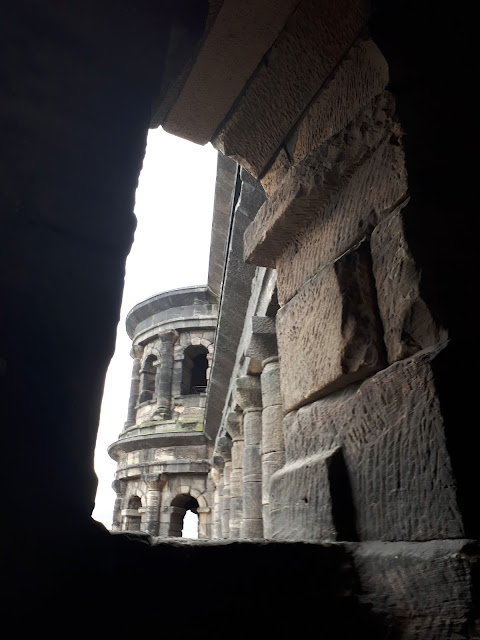 Porta Nigra Roman gate in Trier from inside