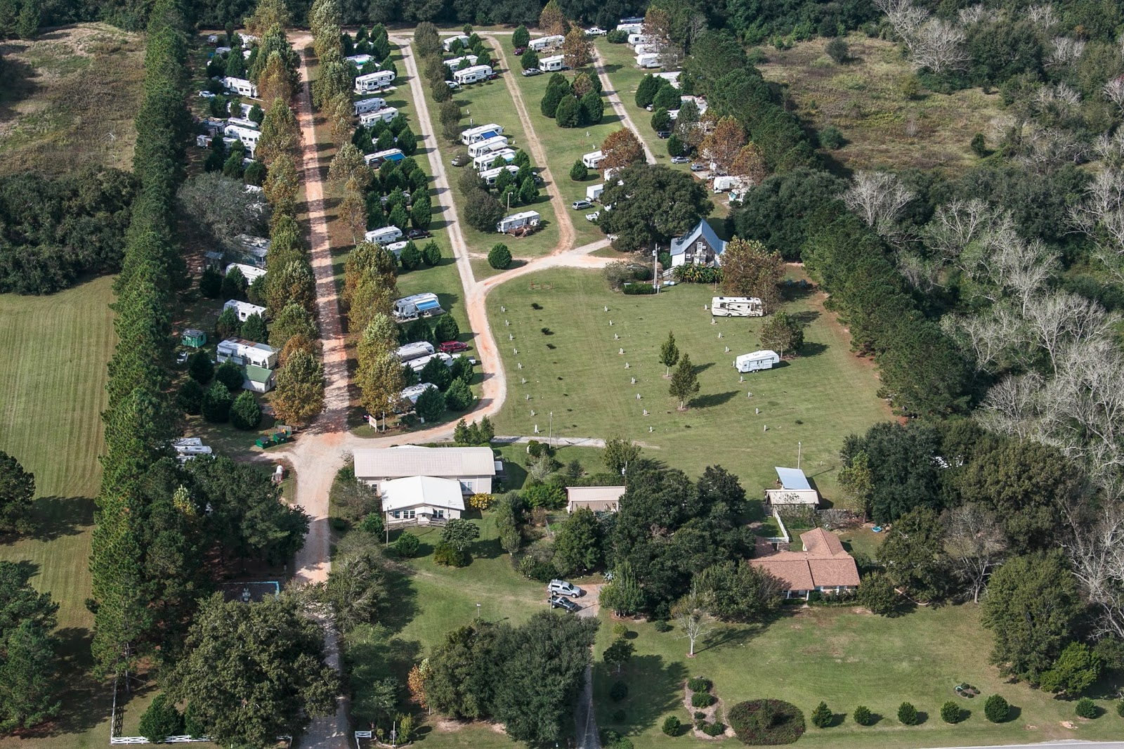 South Wind RV Park: Aerial view of the park