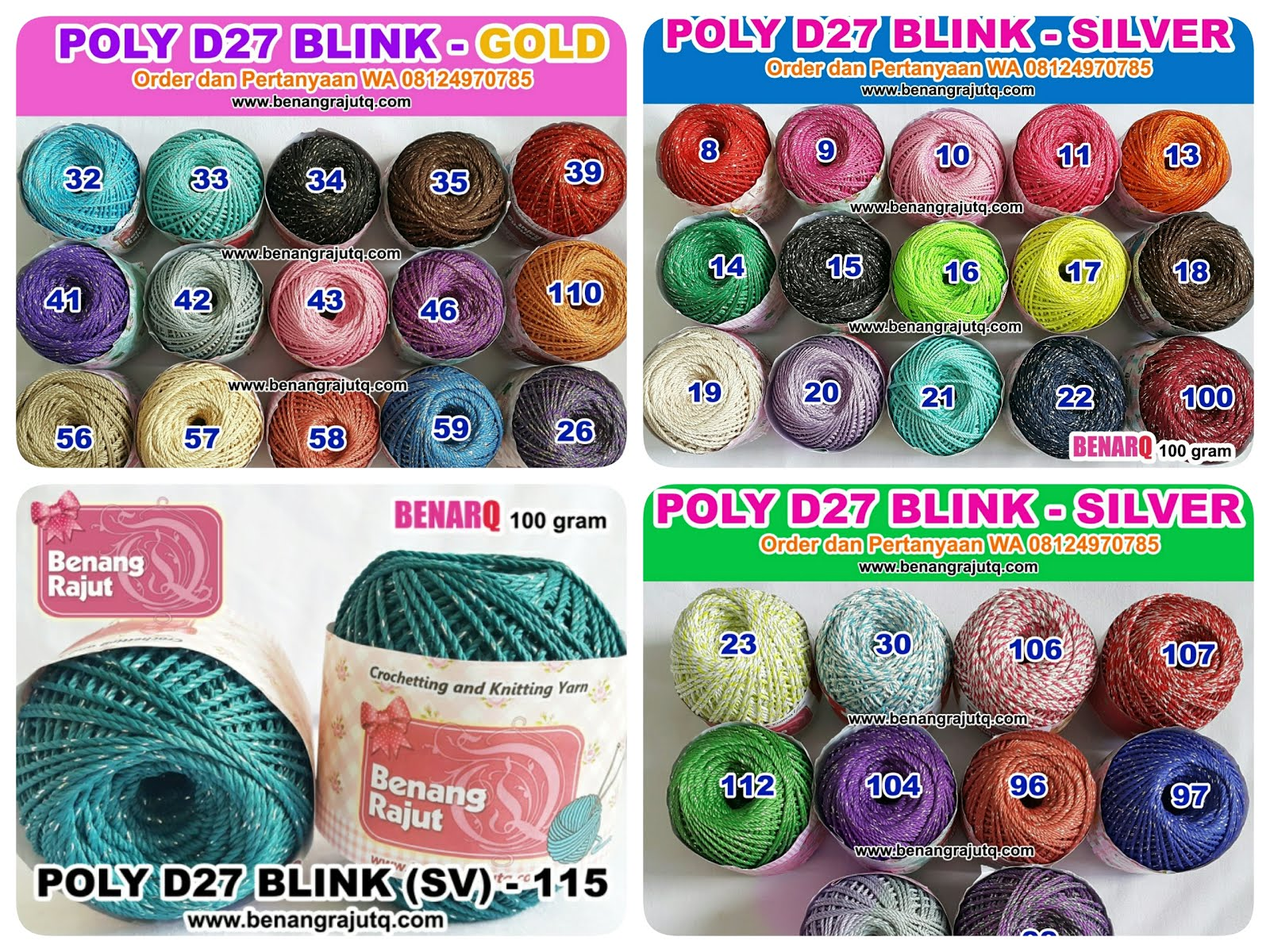 POLYESTER BLINK/GLITTER D27 TWIST GOLD ATAU SILVER