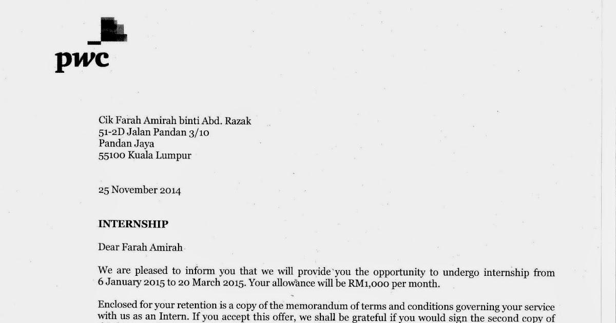 Farah\u0027s Portfolio Offer Letter