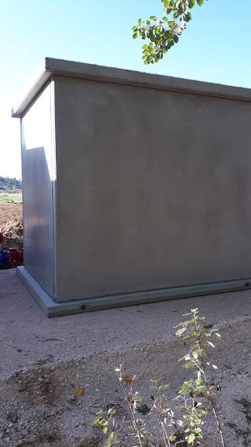 caseta de hormigón armado