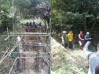 Warga Desa Rowobungkul dan Gedebeg Iuaran Demi Pembangunan Jembatan