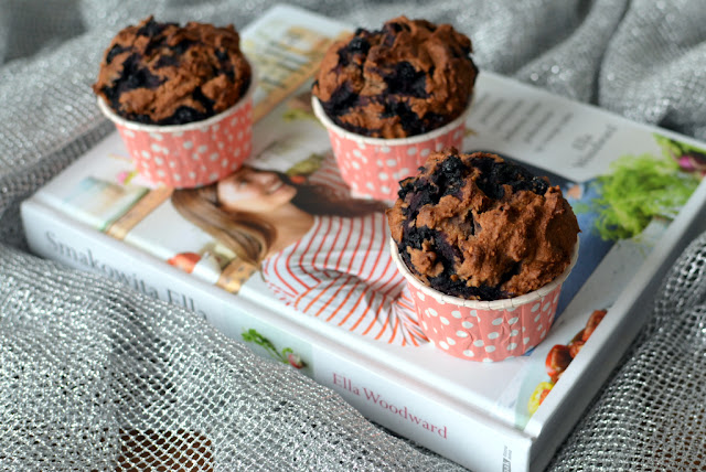 muffiny%2Bgryczane%2Bz%2Bjagodami Muffiny gryczane z jagodami
