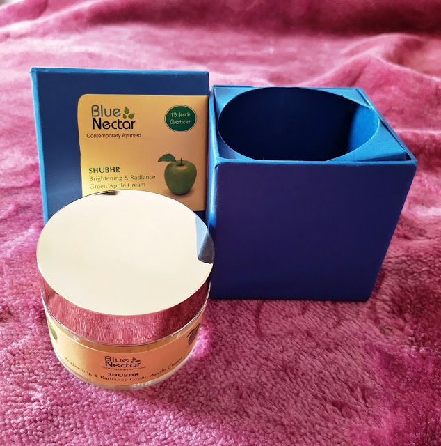 Blue Nectar Brightening & Radiance Green Apple Cream Review and Pictures