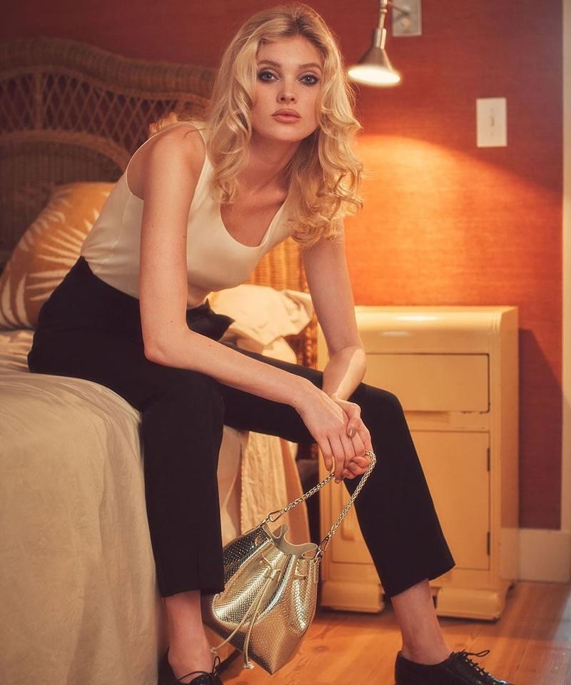 Model Elsa Hosk poses for Lancaster spring-summer 2020 campaign