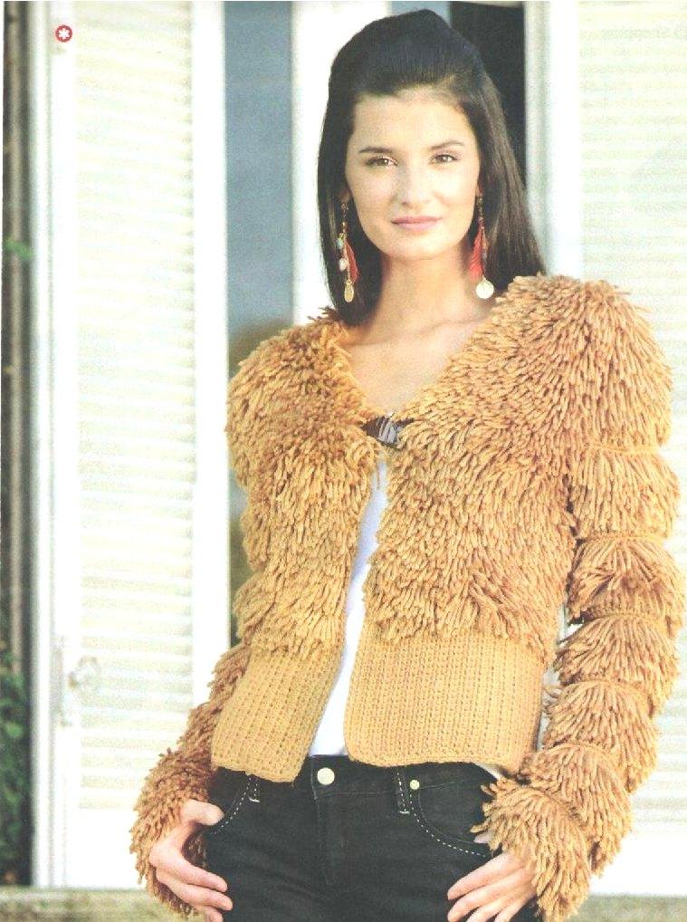 Chaqueta lana de cuatro hebras