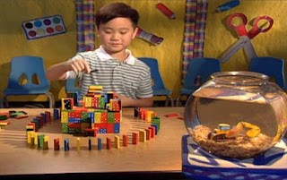A boy make a castle with dominoes. Sesame Street Elmo's World Building Things Kids And Baby