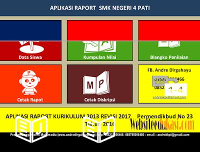 Aplikasi Raport PTS SMA/SMK K13 Revisi 2017