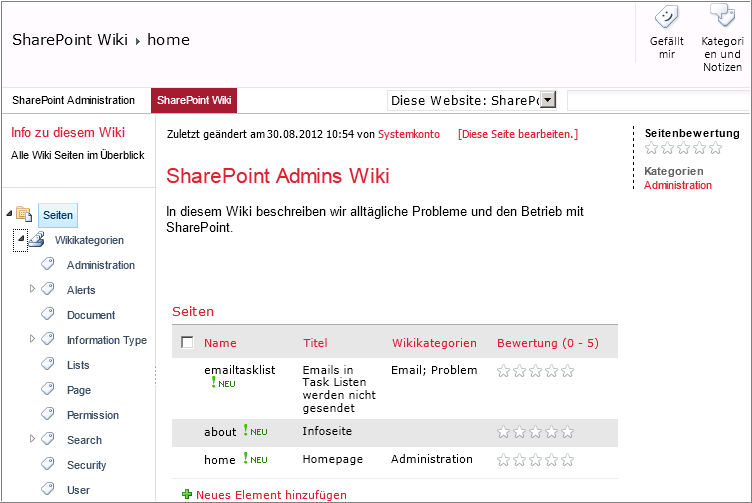 Baris's SharePoint Blog: Using SharePoint Metadata Navigation In Enterprise Wikis