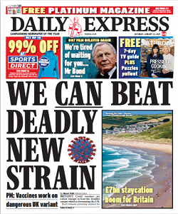 Daily Express 23 January 2021
