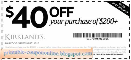 Click to save big with latest Kirkland's Free Shipping hot coupon codes & promo codes. Check out the best Kirkland's Free Shipping hot coupon codes & promo codes of November now.