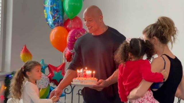 Dwayne 'The Rock' Johnson festeja el cumpleaños de su hija Jasmine
