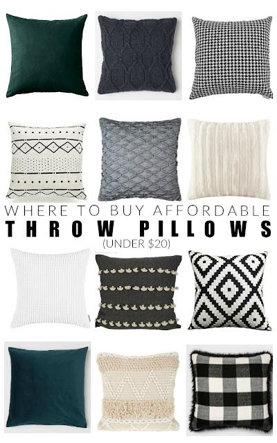 Cheap throw pillows under $20