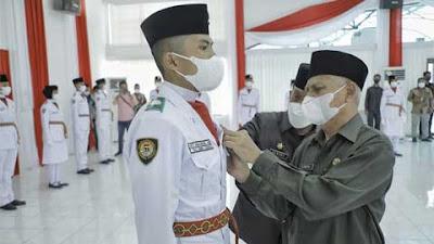 Paskibra HUT ke-76 Kemerdekaan RI 2021 di Kabupaten Asahan Dikukuhkan