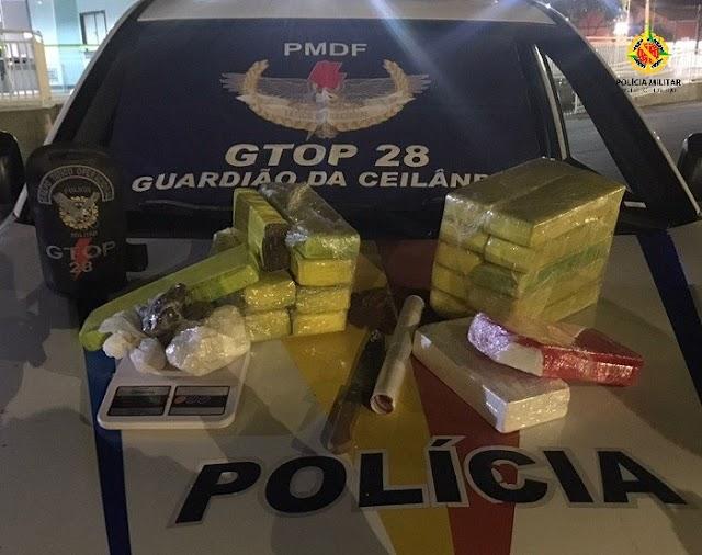 A PMDF apreendeu aproximadamente 20kg de drogas em Ceilândia! Acesse e confira