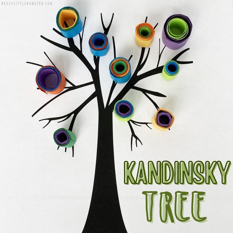 Famous artists for kids - Kandinsky tree