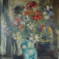 Lafitte pintura arte flores bodegón