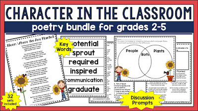 As the new year begins, it's so important to build a positive classroom climate. This post includes lesson suggestions for the beginning weeks. This poetry bundle is perfect for morning meetings.