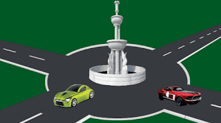 Mobil merah dan mobil hijau www.jawabanbukupaket.com
