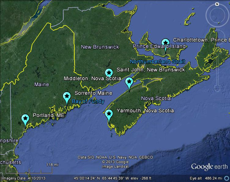 map of nova scotia and maine The Latest Worldwide Meteor Meteorite News Mbiq Detects Nova map of nova scotia and maine