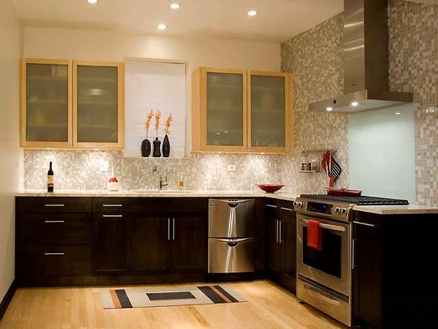 10 Model  Dapur  Minimalis Dengan Kabinet  Warna Gelap