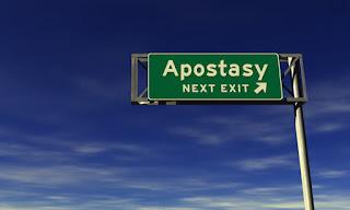 road sign to apostasy