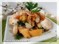http://gourmandesansgluten.blogspot.fr/2014/08/salade-de-melon-aux-crevettes.html