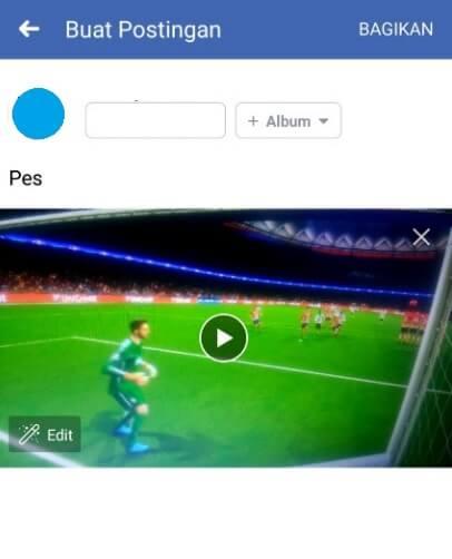 Share video dari galeri ke FB