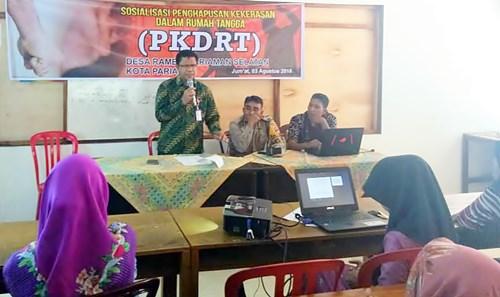 Alfian Harun Sosialisasikan Anti KDRT dan Kekerasan Terhadap Anak